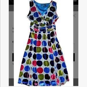 """Boden Velvet Polka Dot """"Tea Party"""" Dress size 8L"""